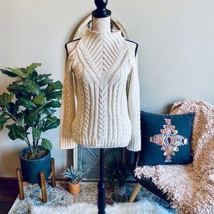 Venus Crochet Knit Open Shoulder Sweater💋
